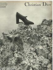 Publicité Advertising 1973 Les Chaussures escarpins souliers Christian Dior