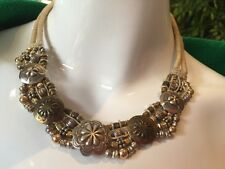 Rare Mary & Doug Hancock Beaded Necklace Vintage Unique Excellent