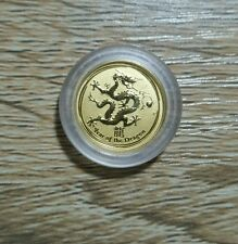 The Perth Mint 2012 $5 Year Of The Dragon 1/20 oz Gold Coin