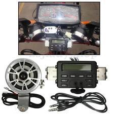 Motorcycle Sound Audio Radio System Handlebar FM MP3 Stereo 2 Speakers ATV Bike