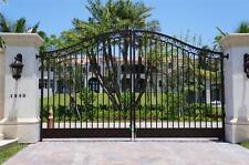 BEAUTIFUL HAND MADE VICTORIAN STYLE ESTATE DRIVEWAY GATES - FL15