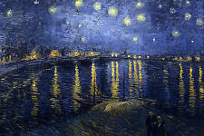 Nice Oil painting impressionism view Starry Night Over the Rhone on canvas 36""