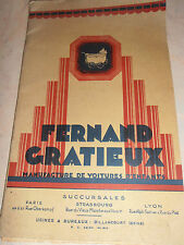 catalogue de landau maison Fernand Gratieux 1927