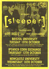 Sleeper / 60ft Dolls / Wannadies, Rare Tour Flyer