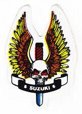 Crâne & dagger MOTOS SUZUKI autocollant