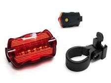 LED Battery Powered Bicycle Bike Front Rear Tail Safety Lamp Flash Light Red