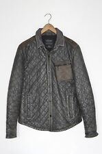 **AWESOME SAUCE** AllSaints Mens Quilted ALTER Leather Shirt / Jacket LARGE rove
