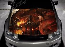 Fire Dragon Full Color Graphics Adhesive Vinyl Sticker Fit any Car Hood #299