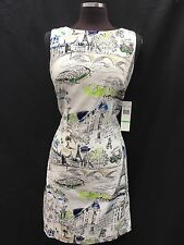 CHETTA B DRESS/COTTON/SIZE 12/LINED/RETAIL$129/NEW WITH TAG/LENGTH 39'/