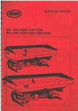 VICON concime SPATOLA BS 950 1000 1100 1200 1400 1500 1650 1800 2000 MANUALE