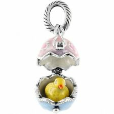 BRIGHTON EASTER EGG PEEP A BOO YELLOW CHICK ABC CHARM PENDANT