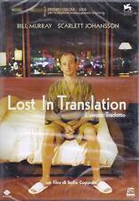 Dvd **LOST IN TRANSLATION ~ L'AMORE TRADOTTO** di S.Coppola nuovo sigillato 2003