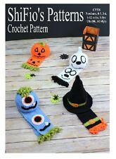 CROCHET PATTERN for BABY CHILD HALLOWEEN  BEANIE  5 SIZES #226
