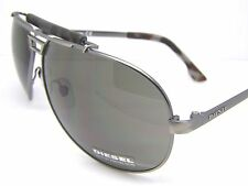 Stunning Diesel Sunglasses DL0027/S 17N Grey Metal Aviator Accessory New