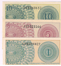 Indonesia - 1,5,10 sen set of 3 currencies