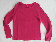 Talbots Boat Neck Link Stitch Cotton Sweater- Hot Pink - Size XL- NWT $59
