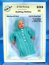 """Dolls knitting pattern  for  Anabell  No 23317""""/19"""" doll DK A Val Young Pattern"""