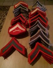 Militia cosplay Large Lot of 389+ USMC Tailors Patches Hash Chevrons Rank Sewing
