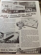 N1-6 Ephemera 1940s Ww2 Advert Fruehauf Trailers Co Detroit
