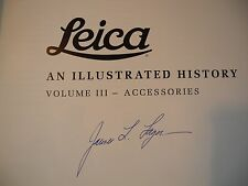 Leica An Illustrated History Vol III ACCESSORIES  1993 Signed LAGER  Limited Ed