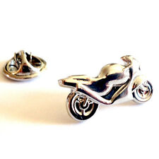 Silver Sports Motorbike Lapel Pin Badge Sport Bike Racing Biker Badges Bikes New
