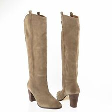 DV Dolce Vita Myste Women's Shoes Taupe Suede Knee-High Heeled Boots Sz 12 M NEW