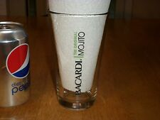 BACARDI-- THE ORIGINAL MOJITO, Clear Glass Beer Mug/Cup, #14 Fluid Ounce,Vintage