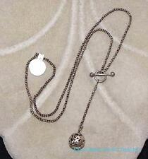 Silpada Sterling Silver Filigree Ball Lariat Y Necklace Front Toggle Clasp N1619