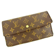 Auth Louis Vuitton Tri-Fold Wallet Monogram Women''s Men''s Yes used J15934