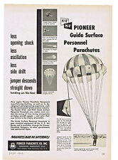 1953 AD PIONEER PARACHUTE CO. GUIDE SURFACE PERSONNEL PARACHUTES P7-B, P9-B