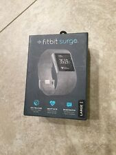 Brand New Open Box Fitbit Surge Fitness Super watch Black Size Large GPS HR