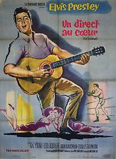 """""""UN DIRECT AU COEUR (KID GALAHAD)"""" Affiche originale entoilée (Elvis PRESLEY)"""
