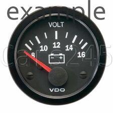 """VDO Voltmeter Gauge 8-16V 2"""" 12V STB 332-010-003K"""