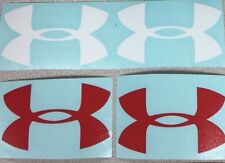 """Lots Of 4 Under ARMOUR 3"""" Sticker Decal Wall Truck Car red white Vinyl Logo"""