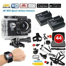 "SJ8000 2.0"" 4K WIFI 1080P Sports Helmet Camera+Remote+Battery+44 in1 Accessories"
