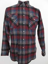 Pendleton Mens Size Medium M Plaid Long Sleeve Button Flannel Shirt Wool Vintage