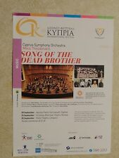 Cyprus Symphony Orchestra 'Song of the Dead Brother' 2016 Leaflet
