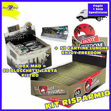 Carta FILTRO a cartoncino Mad 1box + Cartine LUNGHE ENJOY Freedom King Size 50pz
