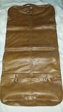Vintage American Tourister Luggage Garment Suit Bag Faux Leather Brown 47x24