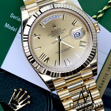 Rolex DAY-DATE 40MM President 228238 Unisex 18K Yellow Gold Champagne Roman Dial