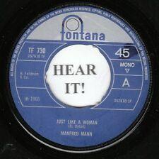 Manfred Mann BRIT 45 (Fontana 730 UK press.) Just Like A Woman/I Wanna Be Rich