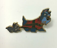 DISNEY PUPPY SCAMP AND SCOTTISH TERRIER JOCK FROM LADY AND THE TRAMP PIN RARE