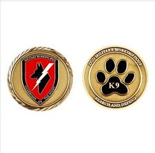 """K9 Canine DOD MILITARY WORKING DOGS SEARCH AND DEFEND  1.75"""" CHALLENGE COIN"""