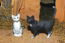 Cat Figurines Nativity Village Scene Animal Figures Dollhouse Miniature Kittens