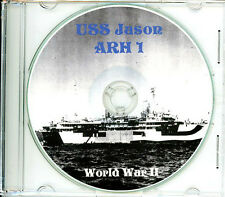USS Jason ARH 1 CRUISE BOOK Memory Log WWII CD
