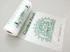 "12"" x 20"" Printed Produce Plastic Poly Bag on a Roll 4 Rolls/cs 2400 Bags"