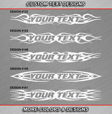 Fits GMC SIERRA Custom Windshield Tribal Flame Graphic Decal Window Sticker Text