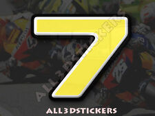 3D Stickers Resin Domed NUMBER 7 SEVEN - Color Yellow - 25 mm(1 inch) Adhesive