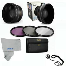 58MM Wide Angle Lens + UV CPL FLD Filter Kit for Canon T5i T4i T3i Xsi 18-55mm
