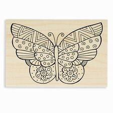 LAUREL BURCH Butterfly Flutter Wood Mounted Rubber Stamp Stampendous LBP001 NEW